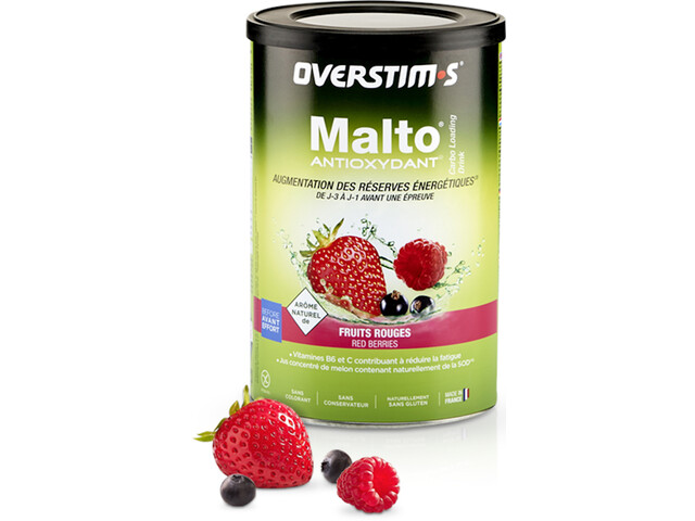 OVERSTIM.s Antioxidant Malto Boisson 500g, Red Berries